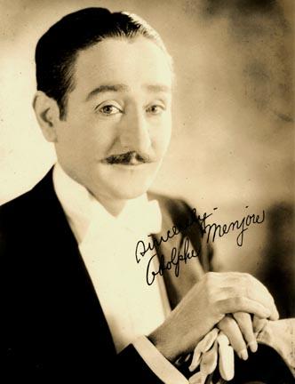 """El actor Adolphe Menjou apoyó la """"Caza"""""""