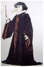 Un médico de la peste con su extravagante vestimenta