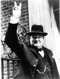 Sir Winston Churchill en Downing Street
