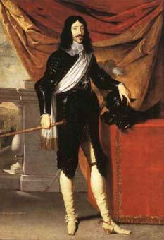 El rey francés Luis XIII